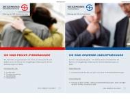 Bild Webseite Versicherungen Siegemund Versicherungsvermittlung Frankfurt