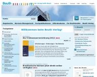 Website BEUTH VERLAG