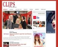 Bild Webseite CLIPS Verlags Köln