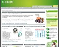 Bild Webseite CEDIP Verlagsgesellschaft Köln