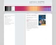 Bild Webseite edition KAPPA Verlag für Kultur u. Kommunikation München