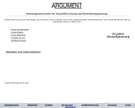 Bild ARGUMENT GmbH - Arbeitsgemeinschaft für Umweltforschung und Entwicklungsplanung