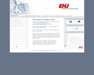 Website EHJ Transport & Spedition