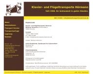 Website Nikolaus Hörmann, Klavier- und Flügeltransporte