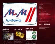 Bild Webseite N + M AUTO SÜD Nürnberg