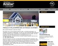 Bild Webseite Autohaus Schöner Cadolzburg