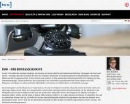 Website buw Unternehmensgruppe