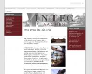 Bild Webseite INTEC AACHEN INNOVATIVE TECHNO- LOGIEN FÜR DIE BAUSANIERUNG Dr.-Ing. Detlef J. Honsinger Aachen