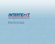 Bild Webseite Intertext Fremdsprachendienst e.G. Magdeburg