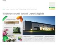 Bild Webseite Kahler Transportgeräte Buch