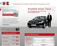 Bild Webseite Taxi- & Mietwagenruf 8 x 8 Bestellung u. Taxiruf Dresden