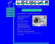 Bild Webseite LOTUS Präsentwerbung Köln