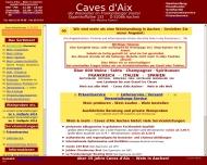 Bild Webseite WEIN in Aachen's Weinhandlung Caves d'Aix Aachen ... Aachen