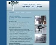 Bild Webseite Liegl Schankanlagen München
