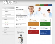 Bild Webseite Hinz Fabrik Rösrath