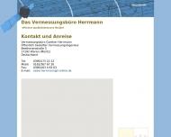 Website Herrmann Gunther - öffentlich bestellter Vermessungsingenieur