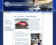 Bild Webseite Car Cosmetic Autokomplettreinigungsgesellschaft München