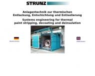 Bild Webseite Strunz Ges. für Verfahrens- u. Entsorgungstechnik Nürnberg