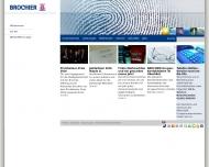 Bild Webseite BROCHIER Unternehmensgruppe Nürnberg