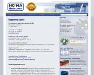 Bild Webseite HO-MA Elektro Berlin