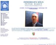 Bild Webseite Hardt Peter Immobilien Köln