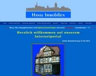 Bild Webseite Hanse Immobilien Tangerhütte