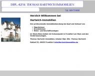 Bild Webseite Hartwich Thomas Dipl.-Kfm. Immobilien Frankfurt