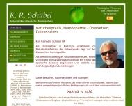 Bild Webseite Schübel K.R. Heilpraktiker Heilbronn