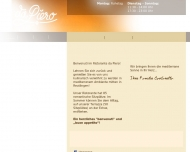 Website Da Piero Ristorante