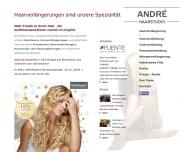 Bild Webseite Haarstudio André Bonn