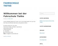 Bild Webseite Fahrschule Tietke Inh. Uwe Brecht Hamburg