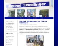 Website Riedlinger Fahrrad