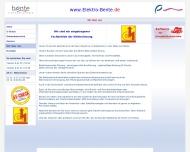 Website Elektro - Bente