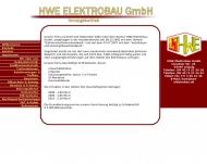 Website HWE Elektrobau