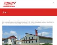 Bild Webseite KOHRT Elektro Glasin