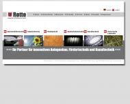 Website Ulrich Rotte Anlagenbau- und Fördertechnik