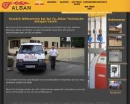 Bild Webseite Alban Technische Anlagen Laubach
