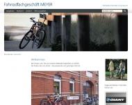 Website Fahrradfachgeschäft MEYER