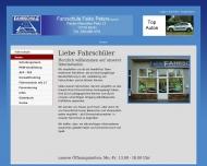 Bild Webseite Fahrschule Falko Peters Berlin