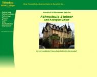 Bild Webseite Fahrschule Steiner und Kollegen Berlin