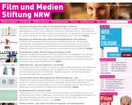 Bild Webseite Filmstiftung Nordrhein-Westfalen Gesellschaft Düsseldorf