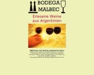 Bild Webseite Bodega Malbec Weine aus Argentinien Köln