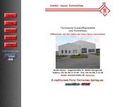 Website Reuß Marco Formenbau