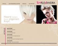 Bild Webseite Friseur Alexandra Köln