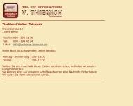 Website Thiemich Volker Tischlerei