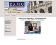 Bild Webseite Unger Michaela Rechtsanwaltskanzlei München