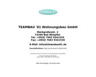 Website TEAMBAU'81 Wohnungsbau