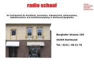Bild Webseite Radio Schaaf Inh. Frank Schönefeld Radio- und Fernsehtechniker Dortmund