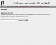 Bild Webseite Wahl Antiquariat Heilbronn