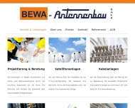 Website Bewa Antennenbau